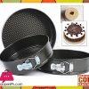 Cake Pan Set 3 Pcs Non-Stick Removable Bottom ( 20CM ) ( 22CM ) ( 24CM )CM