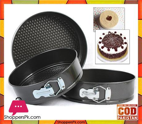 Cake Pan Set 3 Pcs Non-Stick Removable Bottom ( 20CM ) ( 22CM ) ( 24CM )CM