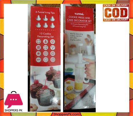 Cookie Press and Cake Decorator Set Price in Pakistan