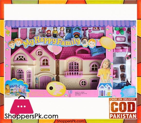 My Happy Family Doll House Play Set