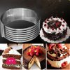 Stainless Steel Adjustable Cake Slicer Ring Small 6-8 Inch