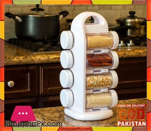 8 Piece Revolving Spice Set Plastic
