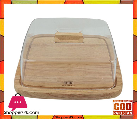 Billi Cheese Board Cake Dish With Cover Square Made In Thailand #WP911