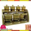 Bita Jars Set Wall Mounted Stand 9 Pcs Set