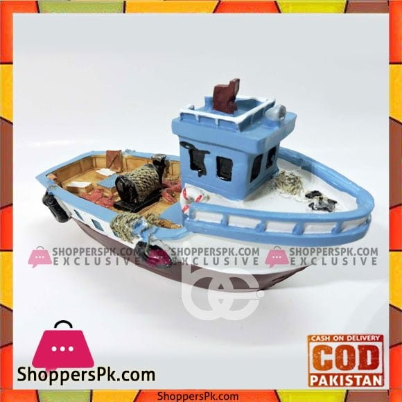 Boat Table Decoration 40-3B - Blue/White