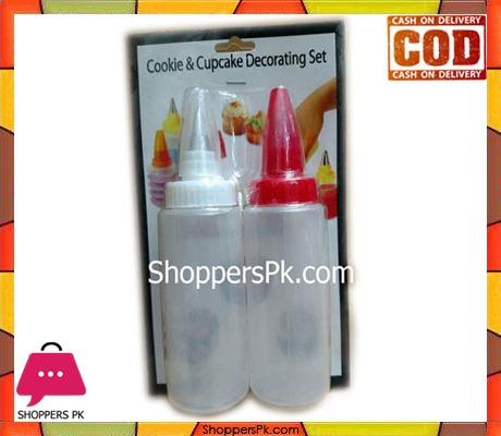 Cake Decorator Bottle Set 2Pcs