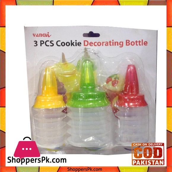 Cake Decorator Bottle Set 3Pcs
