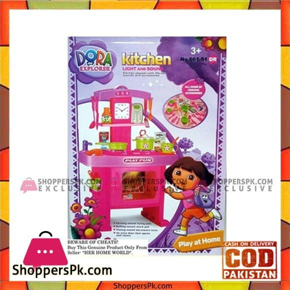 Dora Kitchen Set Toys with Music and Lights