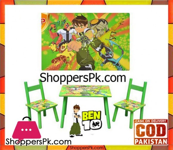 Kids Table BEN 10 with Two Chairs