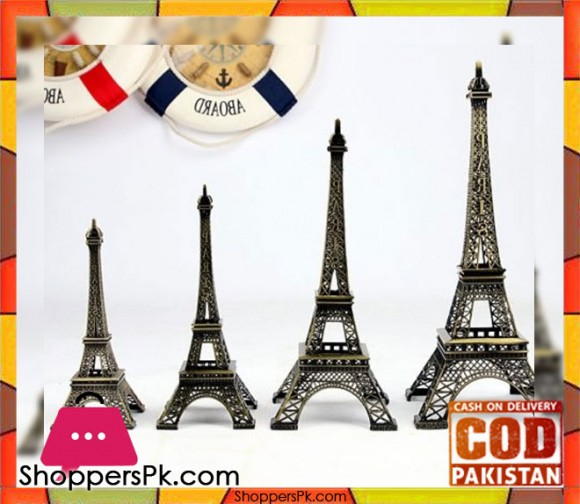 Paris Eiffel Tower Model Pewter Metal - Medium 25cm