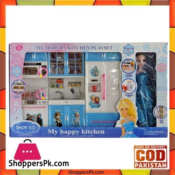 Princess Frozen Happy Kitchen Set With Frozen Doll