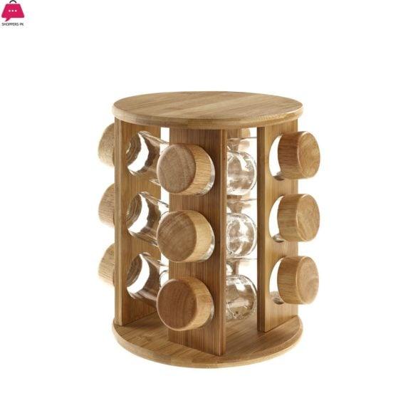 Revolving-Rubber-Wood-Spice-Rack-12-Pcs