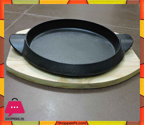 Sizzler-Plate-Cast-Iron-Wooden-Base-1