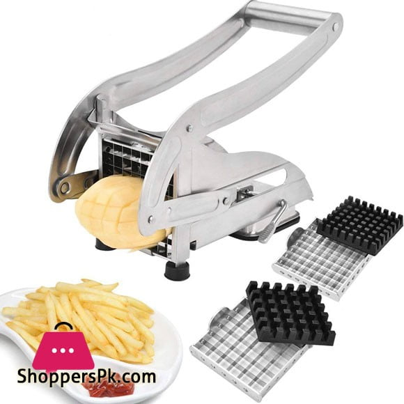 Stainless Steel Potato French Fry Chips Cutter Double Blade