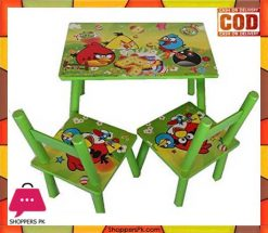 Wooden Table Chair Set 3pcs