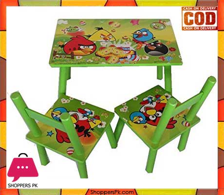 Wooden Table Chair Set 3pcs