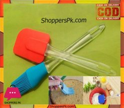 Silicone Spatula & Brush Set 2Pcs