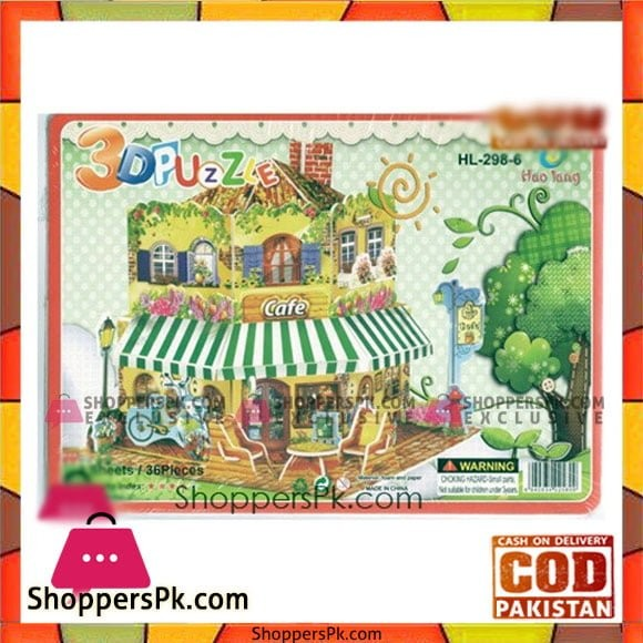 3D Super Puzzle 4 Sheet Cafe