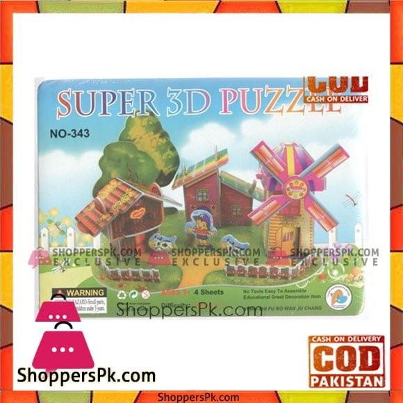 3D Super Puzzle 4 Sheet Windmill