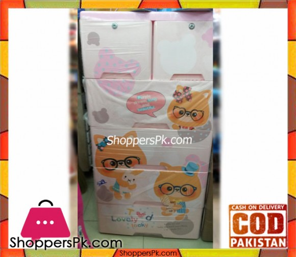 Baby Clothes Storage Drawer Plastic Lovely Teddy