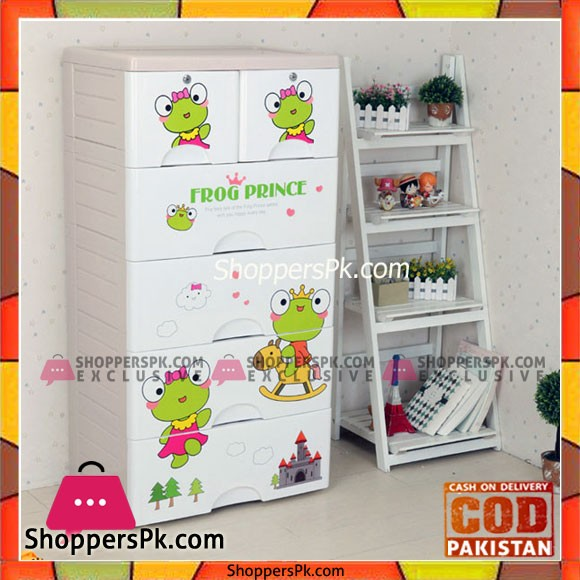 Baby Clothes Storage Drawer Plastic Prince Frog