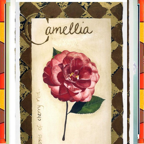 Flower Painting Print with Frame 10 - 9.5x14.5 Inch