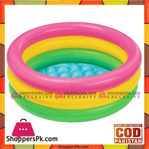 Intex Sunset Glow Baby Swimming Pool - 2 Feet x 8 Inch - Age 0-2 - 57107
