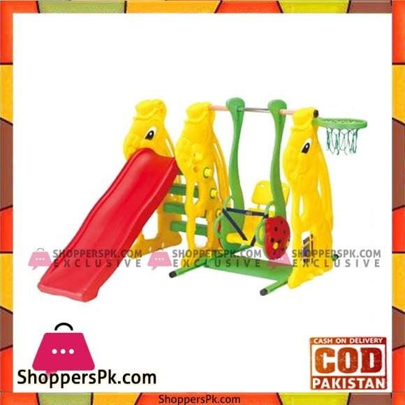 Rabbit Slide, Ladybug Swing & Basketball - SL-08 - 137 CM
