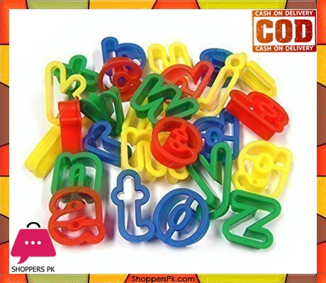 26 Plastic Playdough Cookie Cutters A-Z