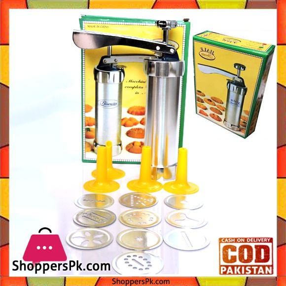 Cookie Press 10 Cutters Set in Pakistan