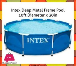 Intex-Deep-Metal-Frame-Pool-10ft-Diameter-x-30in-in-Pakistan