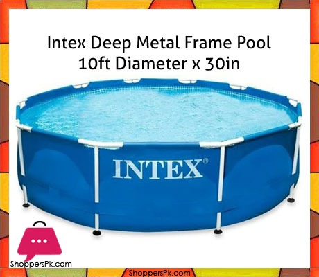 Buy Intex Deep Metal Frame Pool 10ft X 30in With Pump 28202 At Best Price In Pakistan