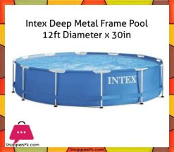 Intex-Deep-Metal-Frame-Pool-12ft-Diameter-x-30in-28210-in-Pakistan
