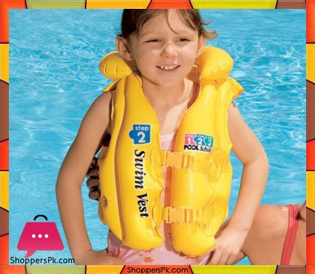 Buy Intex Deluxe Pool School Swim Vest Buoyancy Jacket For Age 3 6 Years 58660 At Best Price