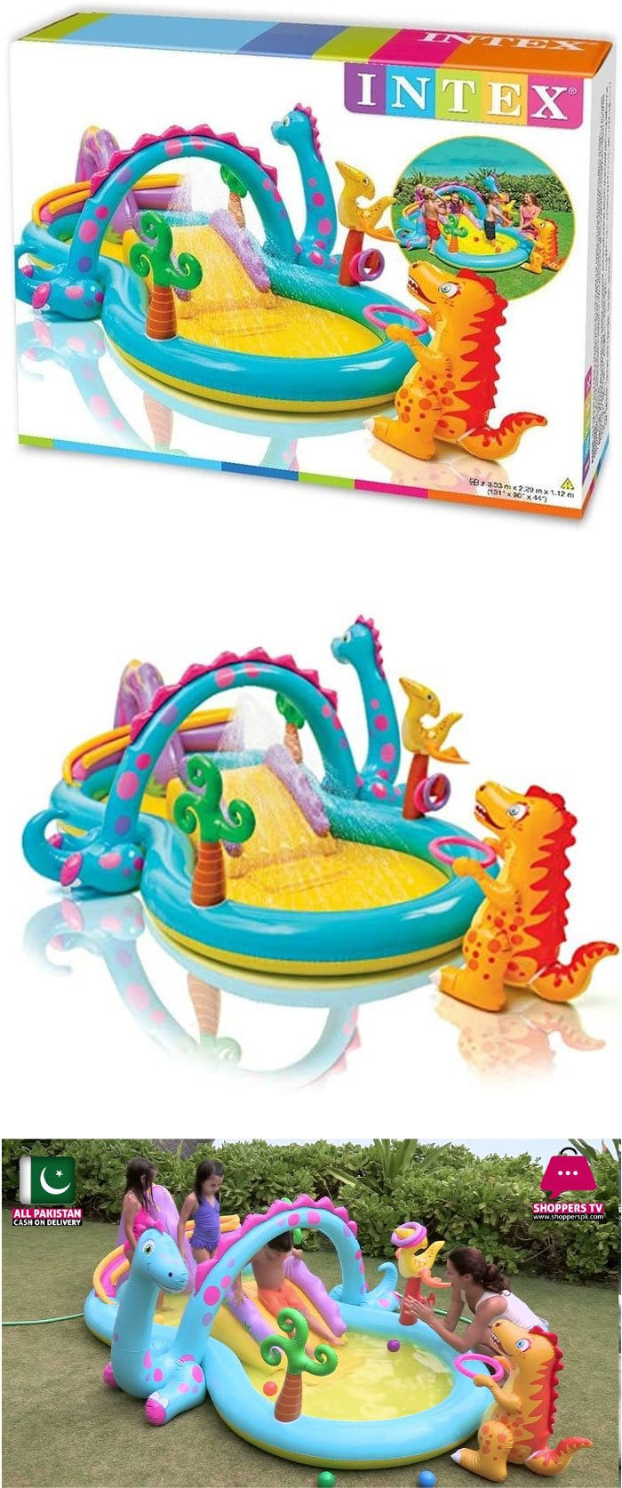Intex Dinoland Inflatable Play Center - Age 3+ - 57135