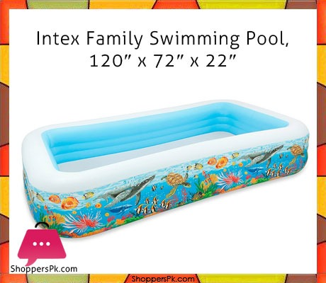 Buy Intex Family Deluxe Mini Swimming Pool 10 X 6 X 1 8 Feet Age 3 58485 At Best Price In