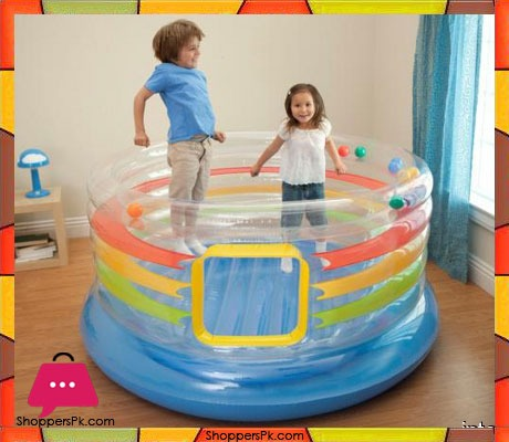 Intex jump o lene transparent ring bouncer age 3 48264 for Door bouncer age