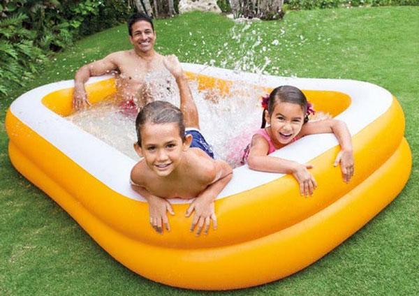 Intex Mandarin Swim Center Family Pool - 7.5 x 4.8 x 1.5 Feet - Age 3+ - 57181