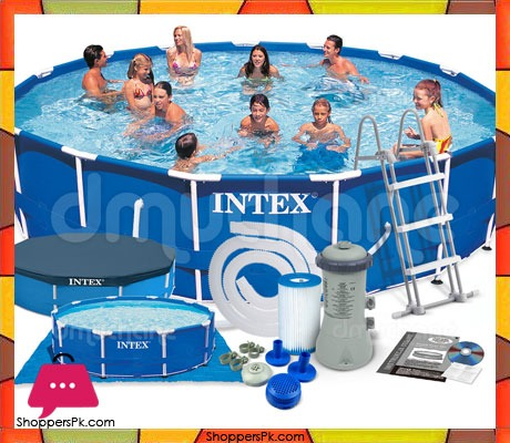 Intex Metal Frame Pool With Filter Pump Accessories 15ft X 42