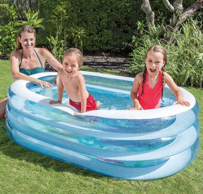 Intex Oval Whale Fun Pool - 5 x 3.5 x 1.5 Feet - Age 3+ - 57482