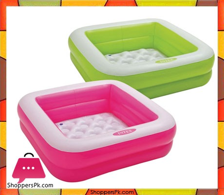 Buy Intex Play Box Pool Or Ball Pond In Green 2 7 X 2 7 X Feet Age 1 3 57100 At Best
