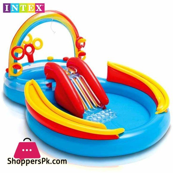 Intex Rainbow Ring Inflatable Play Center - Age 2+ - 57453