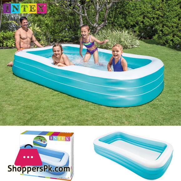 Buy Intex Rectangular Swim Center Family Swimming Pool 10 X 6 X 1 8 Feet Age 3 58484 At Best Price In Pakistan