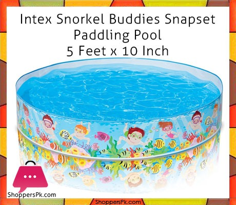 Intex Snorkel Buddies Snapset Paddling Pool 5 Feet x 10 Inch
