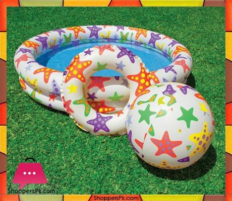 Intex-Stars-Pool-Set-with-Beach-Ball-and-Swim-Ring-48-x-10-Price-in-Pakistan