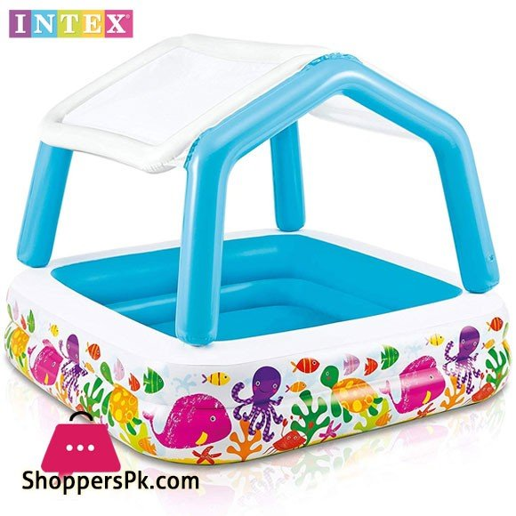 Intex Sun Shade Inflatable Pool - Ages 2+ - 57470