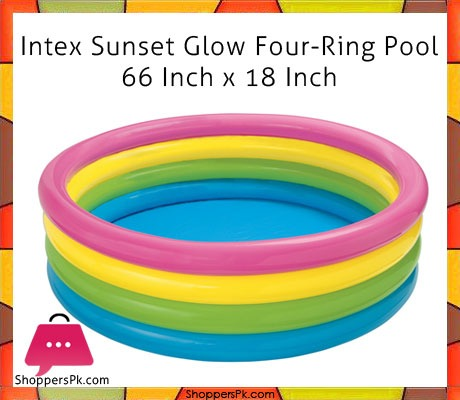 Intex-Sunset-Glow-Four-Ring-Pool-66-Inch-x-18-Inch-Price-in-Pakistan
