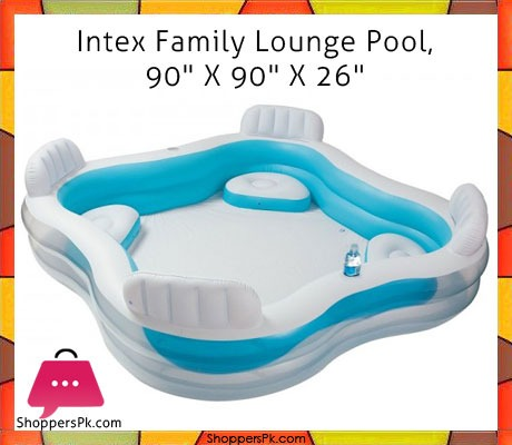 Buy Intex Swim Center Family Lounge Inflatable Pool 7 5 X 7 5 X 2 1 Feet Age 3 56475 At
