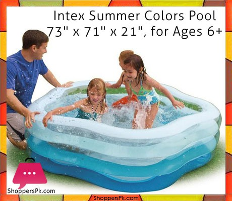 Buy Intex Swim Center Summer Colors Pool 6 X 5 9 X Feet Age 3 56495 At Best Price In
