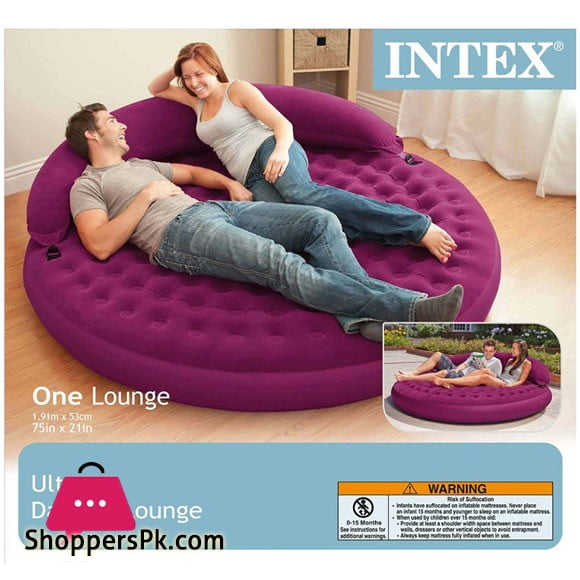 Intex Ultra Daybed Indoor Outdoor Inflatable Air Lounge Bed Airbed Chair - 68881